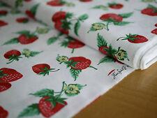 FREE SPIRIT Patchworkstoff FRUTA Y FLOR, Erdbeeren, Blüten