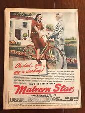 Original Malvern Star bicycles Ad 1940s Vintage Print Advertising Australiana i