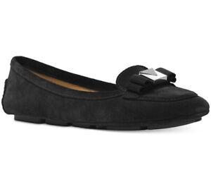 NIB Size 6.5 Michael Kors Caroline Moc Suede Black Flats RARE SOLD OUT MODEL