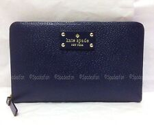 Kate Spade WLRU1154 Wellesley Zip Travel Wallet XL Bifold FRENCH NAVY Blue NWT