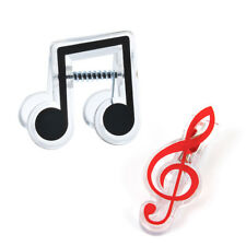 Note Clips Book Page Clip 2Pcs Music Book Clips Lovely Piano