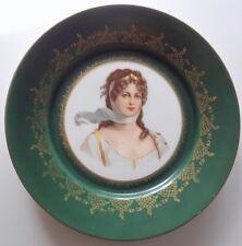 Vintage Victorian Lady Face Gold Trim Decorative Plate Dish Wall Decor