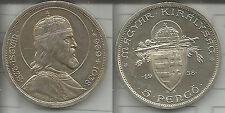 UNGHERIA 5 PENGO 1938 S.STEFANO