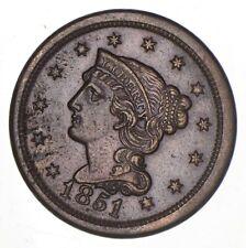 1851 Braided Hair Large Cent *8170