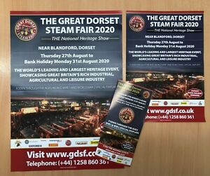 Great Dorset Steam Fair 2020 CANCELLED SHOW Promotion Pack from the show archive