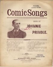 I'm A Reuben, But I'm No Jay Comic Songs by Johnnie Prindle 1888 Sheet Music