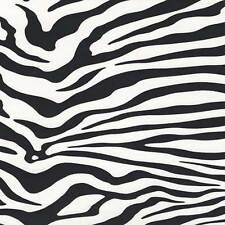 Zebra Print Wallpaper - Black and White