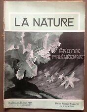 revue LA NATURE n° 2814 - 1er aout 1929 - grotte pyreneenne