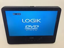 "LOGIK 9"" Tablet In Car Portable DVD Player 3 Hour Rechargeable Battery AV in Out"
