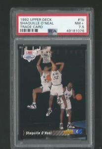 1992 Upper Deck Trade Shaquille O'Neal Magic #1 RC Rookie Card PSA 7.5 NM+ JC
