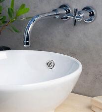 KNOPPO® Waschbecken Überlaufblende / Überlaufabdeckung - Sieve (chrom) silber
