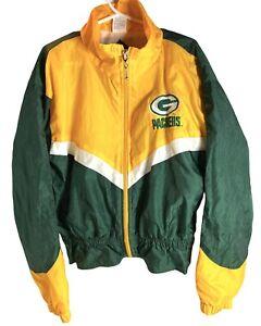 Vintage Girls Youth Green Bay Packers Jacket NFL  Windbreaker Size 7 8 Medium PG