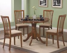 Set Of 2pc Modern Chairs Amber Fabric Seat Light Oak Wood Back Dining Room Home