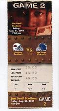 SAN DIEGO CHARGERS at ARIZONA CARDINALS NFL TICKET Aug 31, 2001 Tillman 4th sea