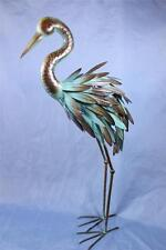 """New listing Crane Statue Metal Crane Garden Statue 3 Dimensional Feathers 29.5"""" Tall Nwot"""