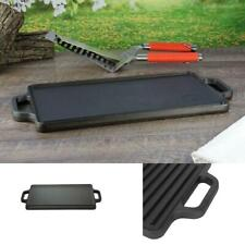 Reversible Cast Iron Grill Griddle Pan 17