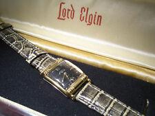 Splendida VECCHIA VINTAGE ART DECO Lord Elgin OROLOGIO da polso Uomo-Incl. BOX
