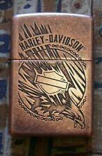 AUTOMOTIVE HARLEY DAVIDSON EAGLE IN ACTION ZIPPO LIGHTER FREE P&P FREE FLINTS