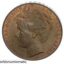 NETHERLANDS WILHELMINA AMSTERDAM 6 SEPTEMBER 1898 INAUGURATION MEDAL TOKEN Z585