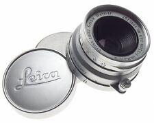 LEICA compact 1:3.5/35mm m39 Summaron f=3.5cm screw mount camera lens caps chrom