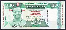 Swaziland 200 Emalangeni  2008  AU-UNC P. 35,  Banknote, Uncirculated