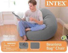 Intex Inflatable Contoured Corduroy Beanless Bag Lounge Chair, Gray 68579EP NIB