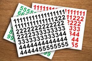 "1"", 2"", 3"", 4"", 5"" SELF ADHESIVE VINYL NUMBERS STICKERS PRICE TAGS 234 DIGITS"