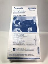 Panasonic PV-V464S VCR Owners Original Instruction Manual OEM VTG