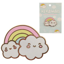 Cute Kawaii Cloud & Rainbow Metal / Enamel Pin Badge / Brooch, Gift BNIP