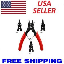 New 4 in 1 Snap Ring Pliers Set Circlip Combination Retaining Clip Car Truck