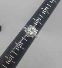4.00 Carat Natural Moissanite Solitaire Ring .925 Size 7 VVS2 F-G