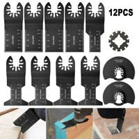 12 Saw Blade Oscillating Multi Tool Fit Fein Bosch Milwaukee Porter Cable Dewalt