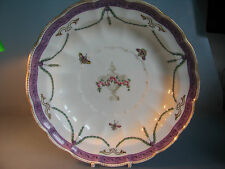 # Royal Worcester hand painted plate bowl swags tails butterflies & bugs 1905