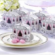 10pcs/set Miniature Paper Carriage Candy Gift Box For Princess Wedding Party R