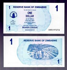 BANK NOTE FROM ZIMBABWE IN AFRICA, 1 BEARER CHEQUE OF $1, 2006, P-37  UNC