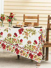 April Cornell Tablecloth Poppy Collection 54x54 NWT 100% Cotton Red