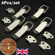 4pcs Stainless Spring Loaded Toggle Case Box Chest Trunk Latch Catch Clamp Clip~