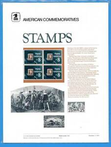 USPS COMMEMORATIVE PANEL #8 STAMP COLLECTING #1474