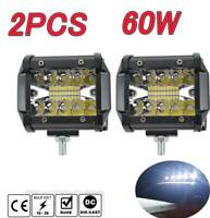 2pcs 4 inch 60W Car 12V 24V LED Work Spot Light Lamp ATV Offroad SUV Truck Boat