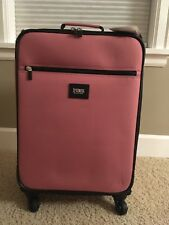 Victorias Secret PINK Wheelie Suitcase Carry-On Luggage Spinner Soft Begonia NWT