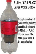 Secret Stash Water Bottle Hidden Storage Compartment Safe Travel Valuable Money Large Coke