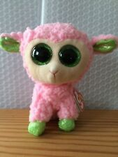 """Ty Beanie Boo Boos Babs the Easter Lamb 6"""" NEW MWMT - FREE Shipping!!"""