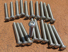 (20)1 3/4 Button Head 1/4 20 Allen Bolt stainless security pin tamper/Anti Theft