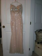 Stunning Aspeed Champagne Mermaid Evening Dress Size S