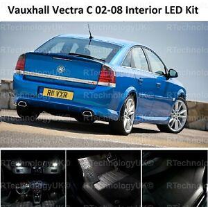 PREMIUM VAUXHALL VECTRA C MK2 02-08 LED LIGHT INTERIOR UPGRADE KIT WHITE VXR SRI