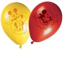 "8 x Disney Mickey mouse Clubhouse red, yellow Latex 11"" Balloons"