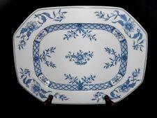 "Villeroy & Boch Heinrich China Blue Pattern 14 3/4"" Serving Platter Unused w2s6"