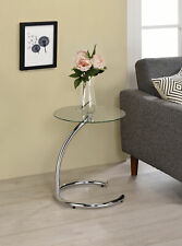 Kings Brand Furniture - Chrome with Glass Modern Accent Side End Table