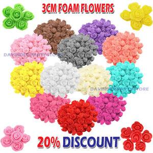 100/500 Foam 3cm Roses Wedding Craft Flower Party Decoration Favour 19 Colour