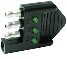 Boat Marine RV Camper 4-Way Trailer Plug LED Circuit Tester Trouble Shoot Wiring